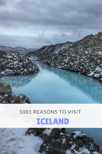 1001 Reasons to visit Iceland Pin - Blue Lagoon