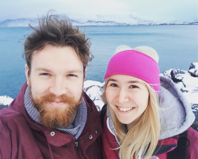 Looking very Scandiwegian with my blonde hair and bearded friend!