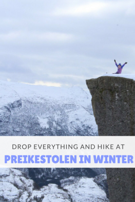 Preikestolen in Winter Pin